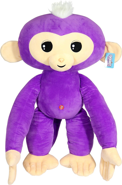 Commonwealth Toys National uniform free shipping Fingerlings Monkey El Paso Mall Large Purple Plush