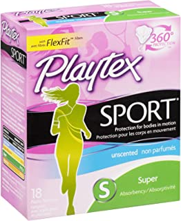 Playtex Plastic Tampons Sport Unscented Super