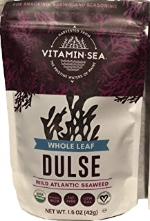 VITAMINSEA Raw Wild Dulse Seaweed USDA Organic and Kosher Hand Harvested from The Atlantic Ocean Maine Coast Vegan Sea Veg...