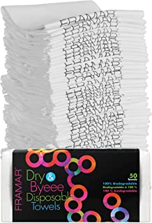 Framar Dry & Byeee Biodegradable Towels - 50 Count (Extra Strength)