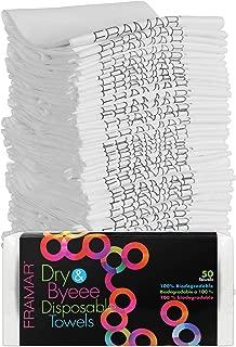 Framar Hair Salon Towels Bleach Safe Disposable Towels - 50 pcs – Hair Towels, Spa Towels, Rapid Dry Towels - Ecofriendly, Nails Supply, Biodegradable, Bleach Proof Towels for Salon – 50 Count