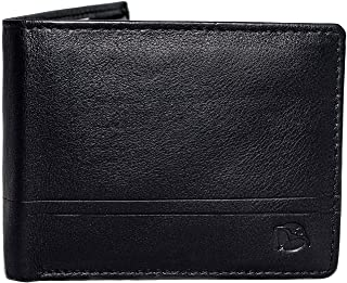 Flying Fossil Genuine Leather Hand-Crafted Bifold Wallet, Ultra Slim Wallet with 8 Card Slots, Coin pocket and 2 Currency Pockets for ID Card, Credit Card, Business Cards, Cash, FFW00009-10