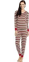 Leveret Women's Pajamas Fitted Striped 2 Piece Pjs Set 100% Cotton Sleep Pants Sleepwear (XSmall-XLarge)