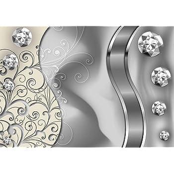 Tapete Fototapete Diamant Grau XL 350 x 245 cm 7 Teile Fototapeten Wandbild