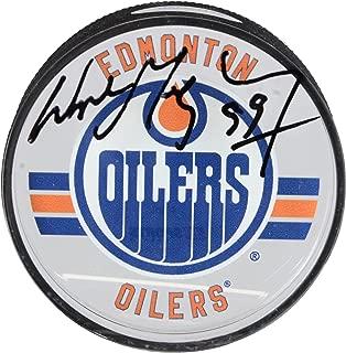 Wayne Gretzky Edmonton Oilers Autographed Acrylic Hockey Puck - Upper Deck - Fanatics Authentic Certified