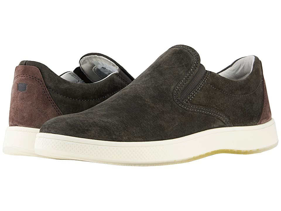 Florsheim Edge Double Gore Slip-On (Charcoal Nubuck) Men