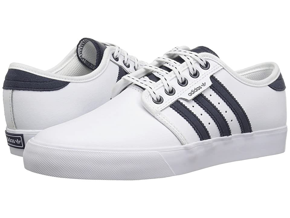 adidas Skateboarding Seeley J (Little Kid/Big Kid) (White/Collegiate Navy/Gum 4) Skate Shoes