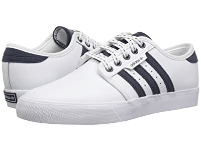 adidas Skateboarding Seeley J (Little Kid/Big Kid) (White/Collegiate Navy/Gum 4) Skate Shoes