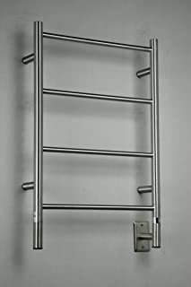 Amba Jeeves Wall Mont Electric I Straight Towel Warmer Finish: Brushed