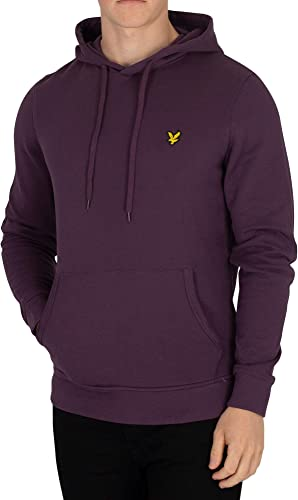 Lyle & Scott Homme Sweat à Capuche, Violet