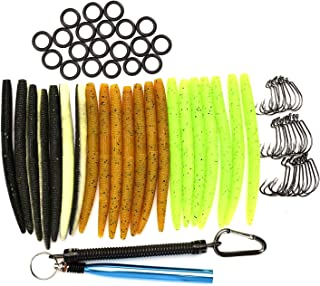 HILLPOW Wacky Worm Kits, Wacky Rig Tool, Wacky Hooks, 5.2
