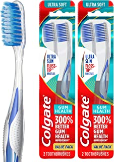 Best Colgate Gum Health Extra Soft Toothbrushes with Floss-Tip Bristles - 4 Count Review