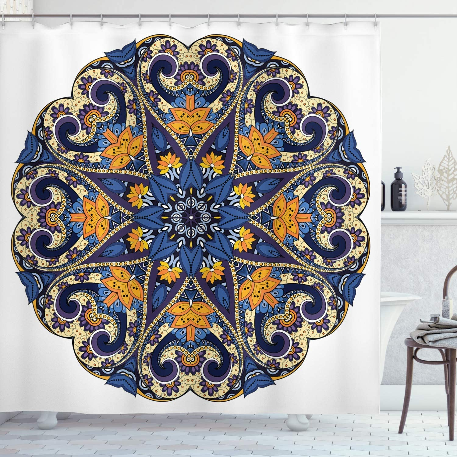 Mandala Shower Cheap We OFFer at cheap prices Curtain Floral with Vibrant Motif Colors