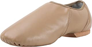 Pegasus galaxy Modern Leather Slip On Jazz Shoe (Little Child) Brown 2.5M