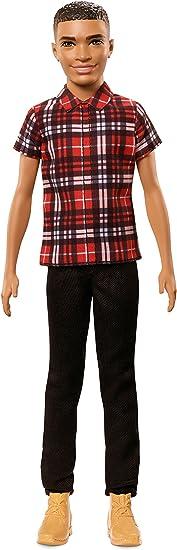 Barbie Fashionista, muñeco Ken camisa con cuadros rojos (Mattel FNH41)
