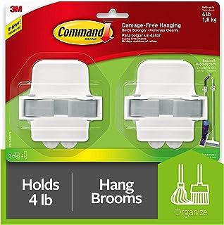 Command Broom & Mop Grippers, 2-Grippers, 4-Strips (17007-HW2ES)