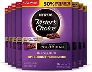 Sponsored Ad - Nescafe Taster's Choice Instant Coffee, Colombian, 16 count (Pack of 8)