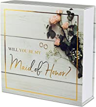 """Maid of Honor Proposal Box - Premium Gold Stamped - """"Will You be My Maid Honor?"""" 
