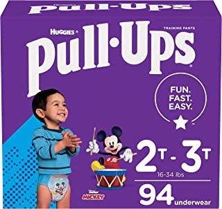Pull-Ups Boys' Potty Training Pants Training Underwear Size 4, 2T-3T, 94 Ct