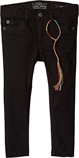 Zoe Five-Pocket Colored Brushed Jeans in Black (Big Kids)