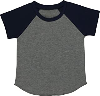ToBeInStyle Baby Cotton Contrast Raglan Sleeve Top