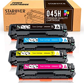 STAROVER Compatible Toner Cartridges Replacement for Canon Cartridge 045 045H CRG-045H for Canon Color imageCLASS MF634Cdw MF632Cdw LBP612Cdw MF632 MF634 - 4 Pack
