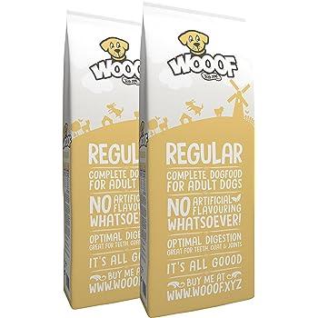 WOOOF Regular | kaltgepresstes Hundefutter | Trockenfutter mit Rindfleisch | 28kg | leicht verdaulich | hoher Fleischanteil | weizenglutenfrei