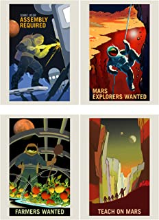 Doppelganger33 LTD NASA Poster Space Exploration Job Advert Pack x 8 Posters Art Prints