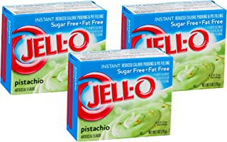Jell-O Sugar-Free Pistachio Instant Pudding Mix 1 Ounce Box (Pack of 3)