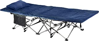 ELTOW Cozy Folding Camping Cot - Heavy-Duty Portable Collapsible Sleeping Bed with Pillow and Mattress - Superior Camping ...