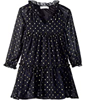 Stella McCartney Kids - Constance Long Sleeve Tulle Gold Polka Dot Dress (Toddler/Little Kids/Big Kids)
