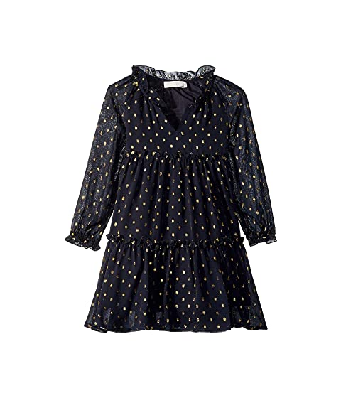 Stella McCartney Kids Constance Long Sleeve Tulle Gold Polka Dot Dress (Toddler/Little Kids/Big Kids)