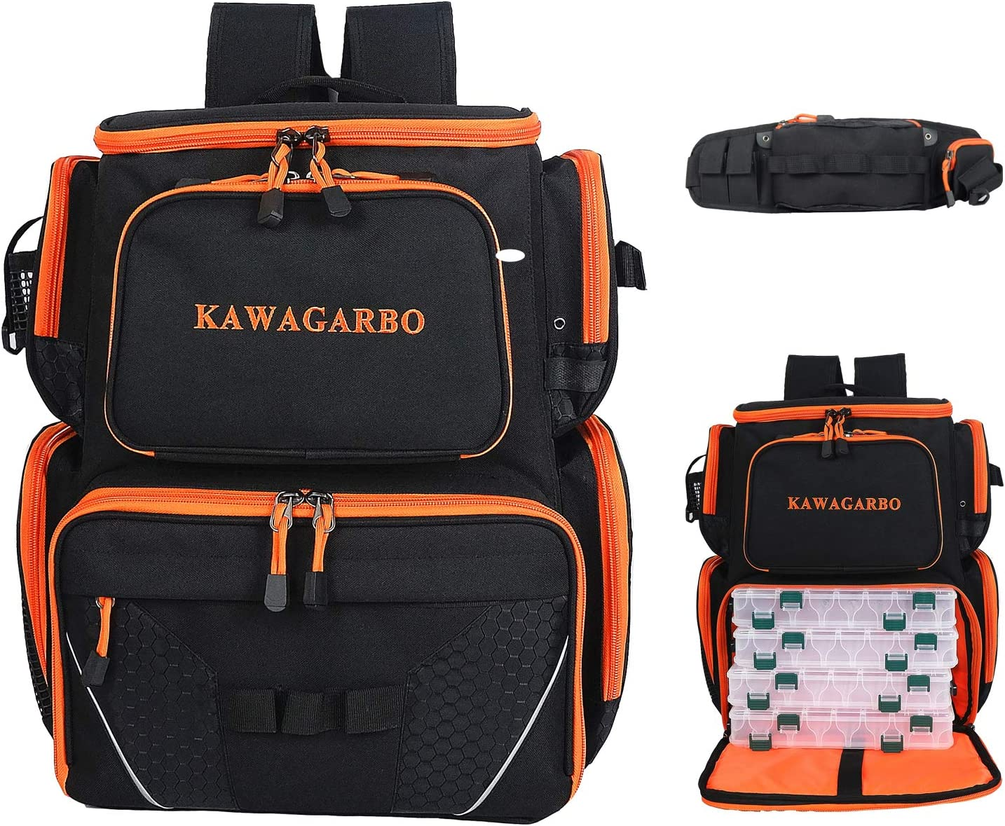 PAPAZAU Cheap super special price Fishing Tackle Backpack with free Large Pack Waist Waterproof