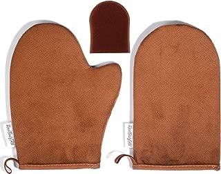 Reneetan 3 Packs Self Tan Mitt Sunless Tan Gloves Applicator Face Mitts for Self Tanner