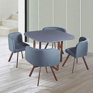 DecoInParis Ensemble Table + 4 chaises encastrables FLEN (Gris)