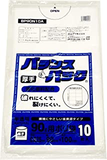 オルディ ゴミ袋 半透明 90L 90×100cm 厚み0.025mm バランスパック ポリ袋 BP9010A/BP90N10A 10枚入