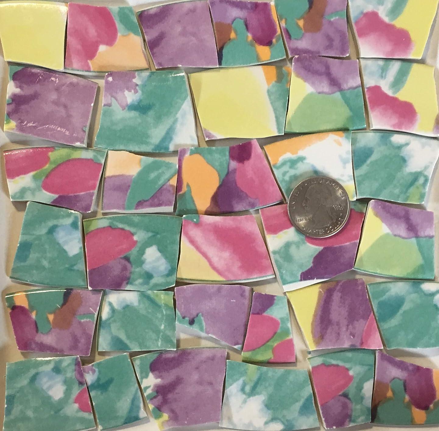 Mosaic Art & Crafts Supply ~ Pink Orange Purple Abstract Tiles (B331)
