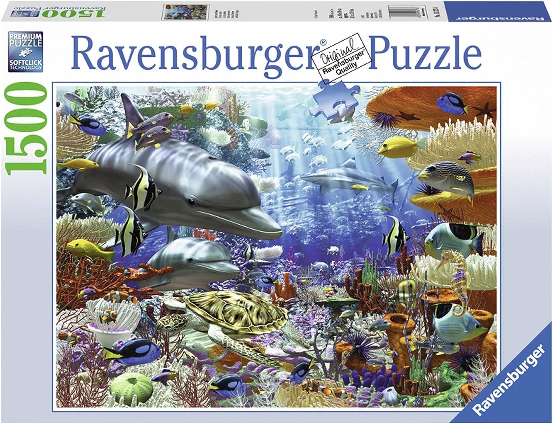 liquidación hasta el 70% Ravensburger 16273 - Puzzle (1500 Piezas), Diseño de de de Vida submarina  apresurado a ver