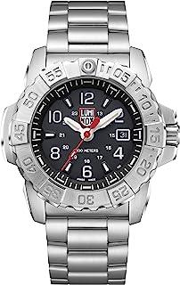 Luminox Mens Watch Navy Seal Steel 3252: 45mm Black Display Silver Stainless Steel 200 M Water Resistant