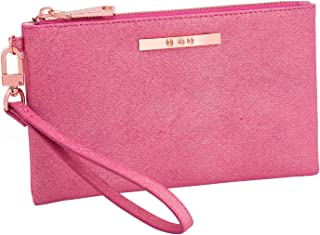 Womens Soft Lightweight Wristlet Clutch - Ladies Glitter Wristlet Organizer with Card Slot