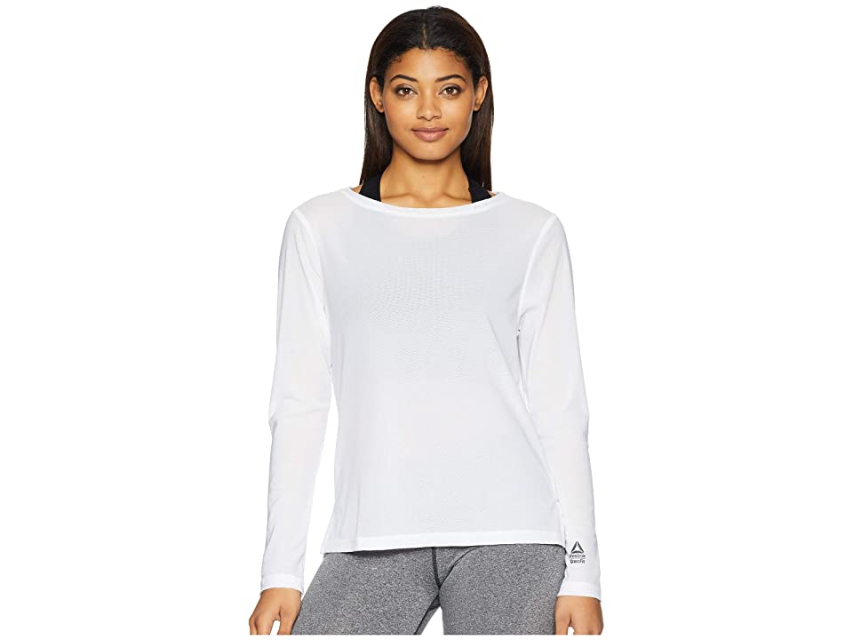 Reebok CrossFit Jacquard Long Sleeve Top (White) Women