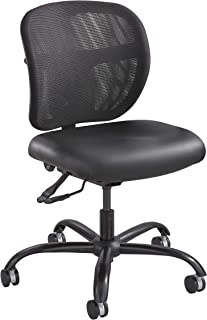 Safco Products Vue Intensive-Use Task Chair , Rated up to 500 lbs., Cool Mesh Back, Waterfall Edge Seat