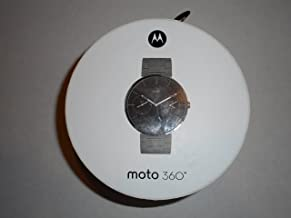 Motorola Moto 360 Smartwatch Stainless Steel 46mm, AT&T, Android Wear Metal Band (Black)