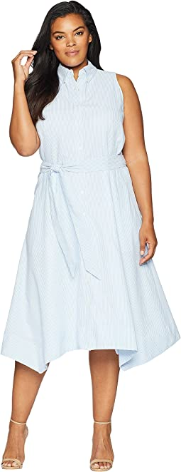 Plus Size Seersucker Shirtdress
