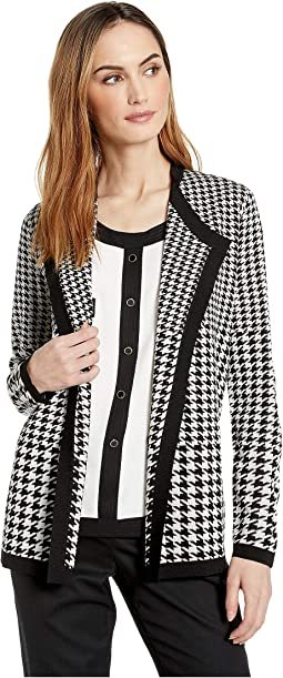 Houndstooth Drapey Cardigan
