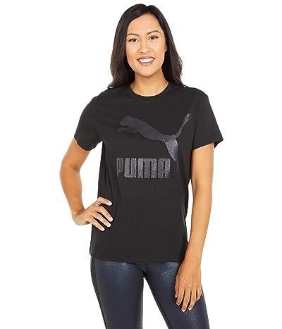 PUMA Classics Logo Tee (Puma Black/Glitter) Women