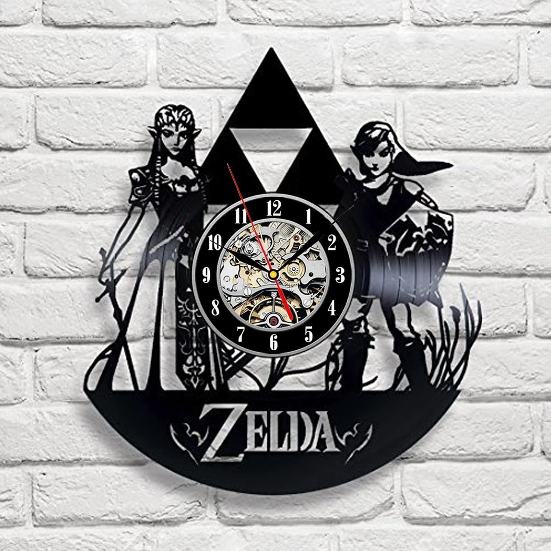 The Legend of Zelda Video Game Clock De Vinyl Excellence Series Record Wall Over item handling