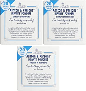 3 X Ashton and Parsons Teething Pain Relief Powders 20