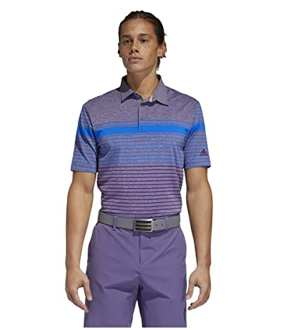 adidas Golf Ultimate365 Engineered Heathered Polo Shirt (Glory Blue/Glory Purple/Tech Purple Melange) Men