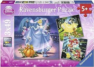 Ravensburger- Puzzle 3 x 49 Piezas, Disney Princess, Color Rosa, 5+ (9339)